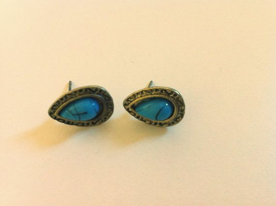 #earrings #blue #turchese #stone #fashion #lookoftheday #shopping #outfit #charm  Facebook Page https://www.facebook.com/LindsaysStuff?ref=hl