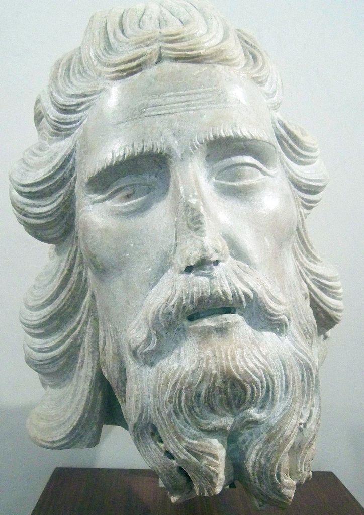1320 Tête de Saint Jean-Baptiste TINO DI CAMAINO (Siena, 1285 circa – Napoli, 1337 circa) Firenze Museo dell'Opera del Duomo     #TuscanyAgriturismoGiratola