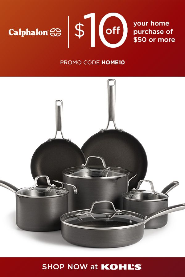 Calphalon Classic 10 Pc Hard Anodized Aluminum Nonstick Cookware Sets Are Now 159 99 Reg 249 99 The With Images Cottage Kitchen Diy Kitchen Design Diy Cookware Set