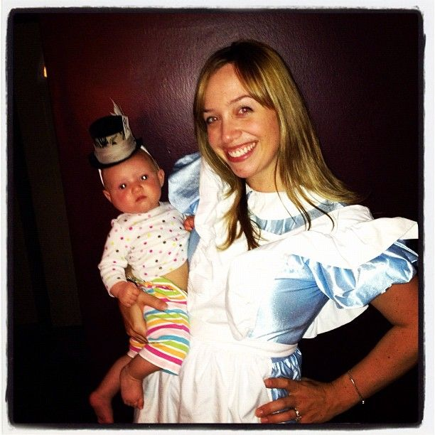 mommybaby halloween costume mommy alice in wonderland and baby mad hatter