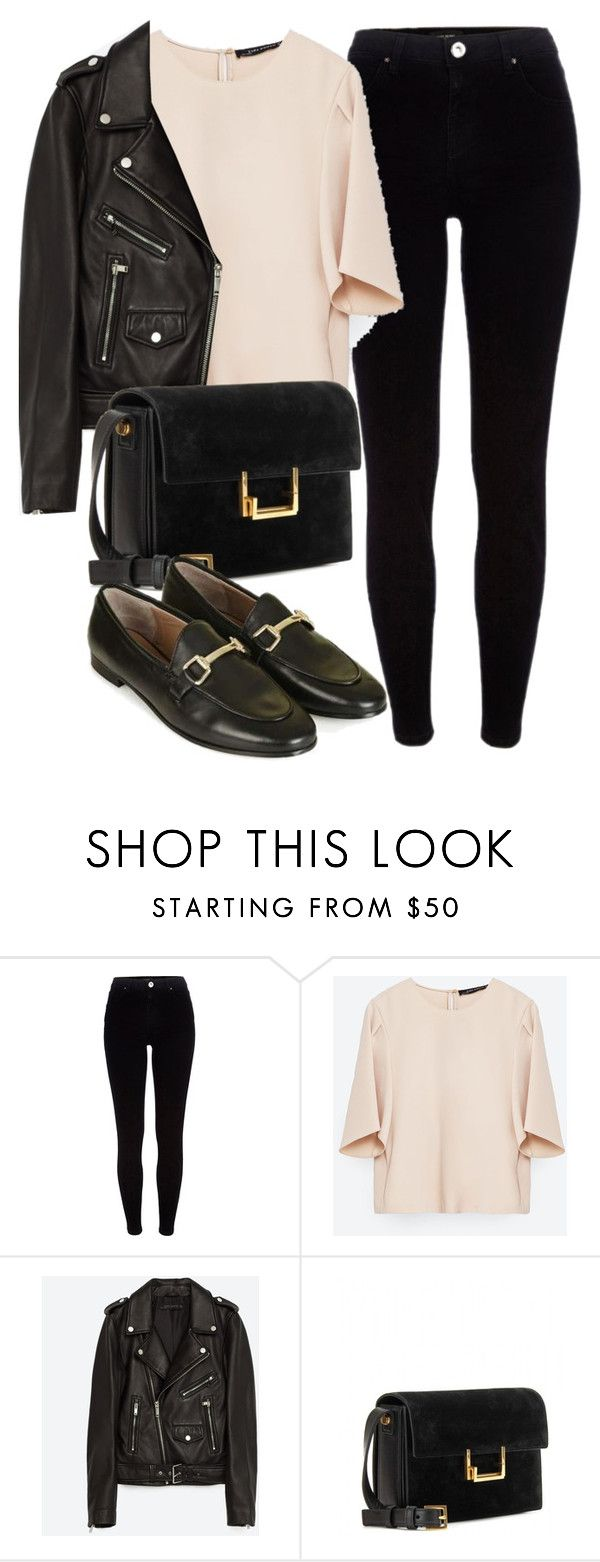 """""""Untitled #5777"""" by laurenmboot ❤ liked on Polyvore featuring River Island, Zara, Jakke, Yves Saint Laurent and Topshop"""