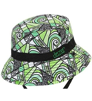 Boys Grommie Floppy - Green - MikyB - The perfect hat for the beach & play. It is made from soft quick drying microfibre. It is fully reversible, giving you 2 styles from one hat!