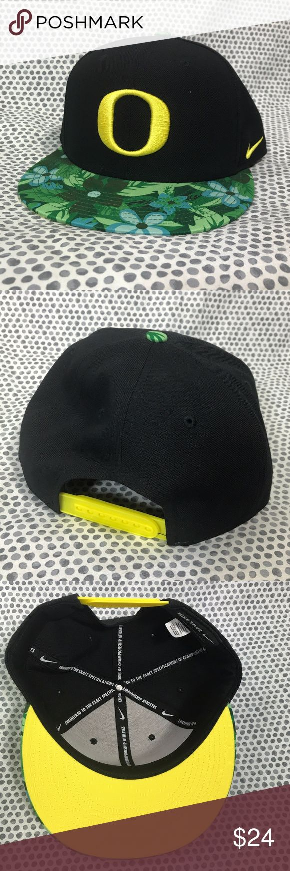 Oregon Ducks Nike Black True Floral Snapback Cap * Oregon Ducks NCAA Nike Black True Floral Bill Snapback Adjustable Baseball Cap * One Size Fits Most  * Made of 100% polyester.  * New without tags and never worn! Nike Accessories Hats