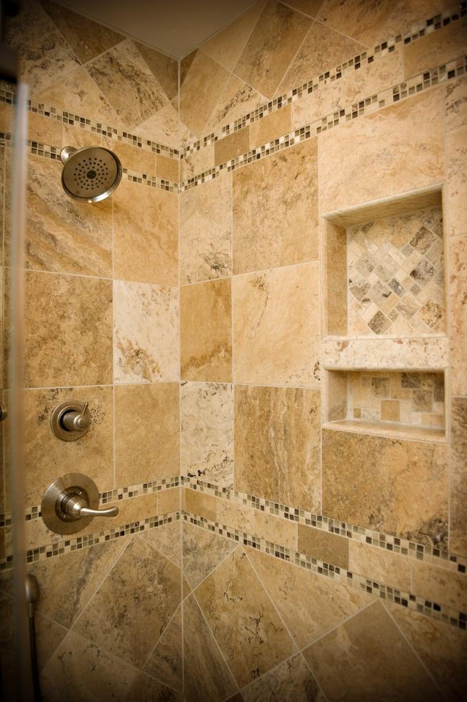 Travertine Tile Shower Ideas 83 best walk-in showers images on pinterest | bathroom ideas