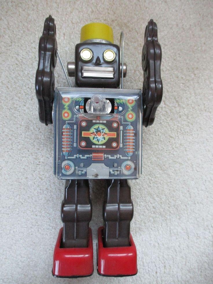 SH Fighting Robot Tin Toy 60s/ebay