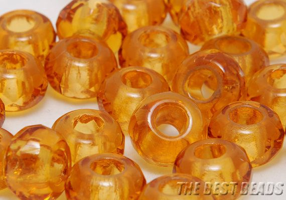 30pcs Topaz Faceted Tyre Rondelles Fire Polished Czech Glass Beads 12x8mm #supply #glass