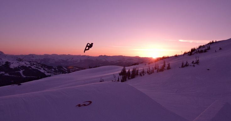 """Frame grab from the Drone Dudes filming of the Nike """"Never Not"""" snowboarding video."""