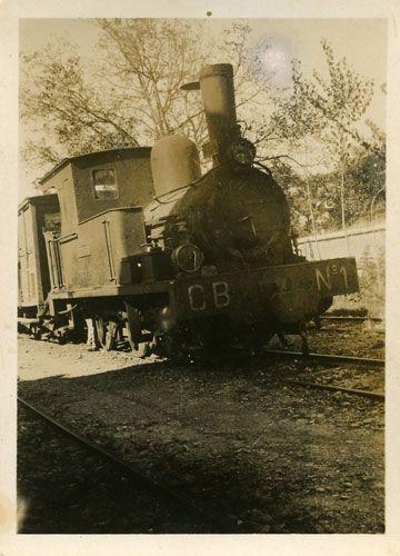 """""""Tren de recorrido Cortes de Navarra-Borja (Zaragoza), donde se rodó Nobleza Baturra. La foto es de los años cuarenta"""""""