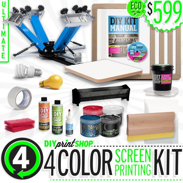 98 best diy kits screen printing images on pinterest arts and from diy print shop diyprintshop ultimate 4 color screen printing kit solutioingenieria Images