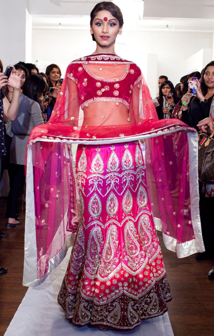 Pink Paisley Silk Lehnga