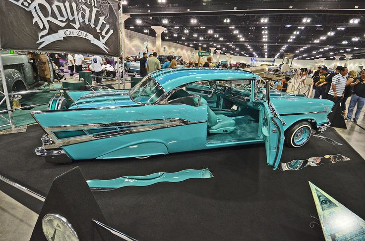 Chevy Bel Air Lowrider Car Show Display