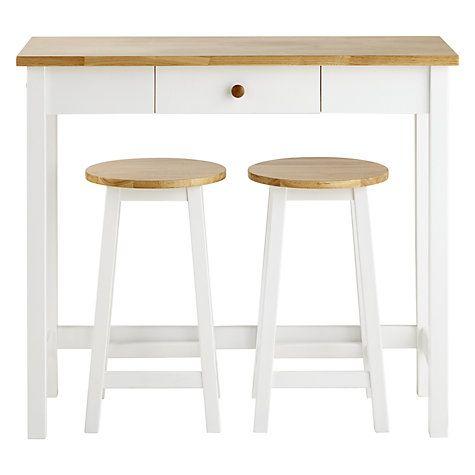 Adler Bar Table U0026 Stools, Cream