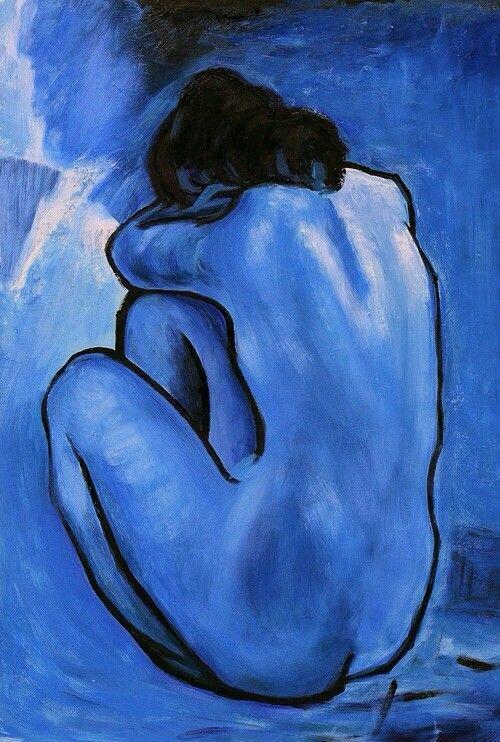 Nu bleu ( 1902 ) , par Pablo Picasso .
