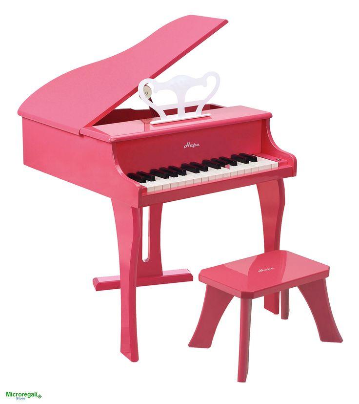 PIANOFORTE ALLEGRO ROSA in Legno cm 50x52x60 per bambini. Età 3A+ Hape
