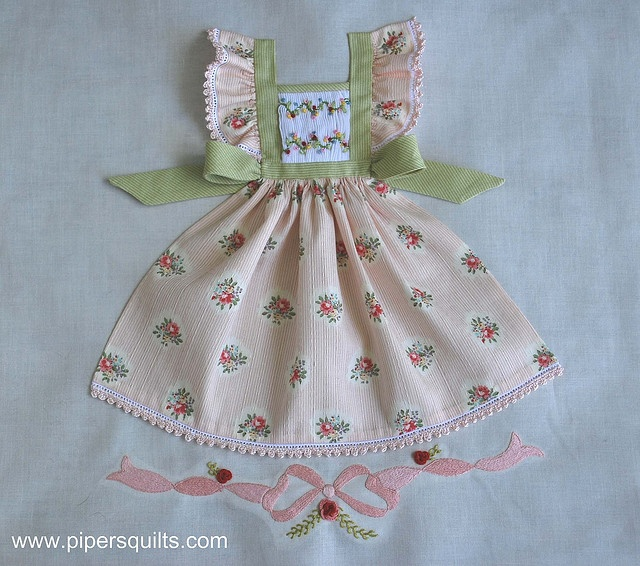 One day I want to take fabric from scraps of dresses that I made my daughter/granddaughters and ...