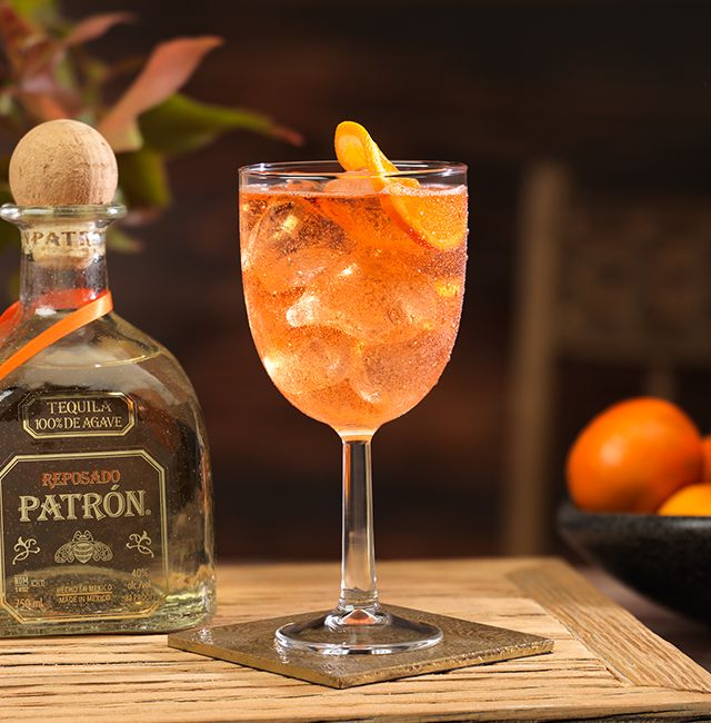 This Sparkling Rosita cocktail for Sagittarians is good enough to be the centerpiece of any cocktail hour with its floral flavors mixed with a dash of sparkle. Ingredients 1.5 oz 	Patrón Reposado .5 oz 	Blanc vermouth .5 oz 	Rosé vermouth .5 oz 	Aperol 1 oz 	Sparkling water + 	Orange slice for garnish Method  Combine ingredients in a wine goblet, add ice and stir. Garnish with a slice of fresh orange.