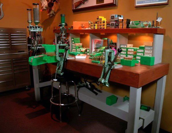Gun Room With Reloading Table