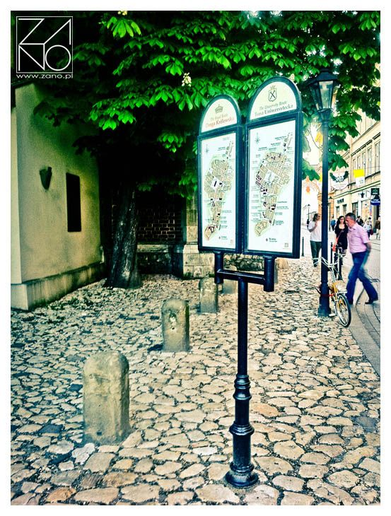 Magical little street... Feel the atmosophere of Cracow's architecture...