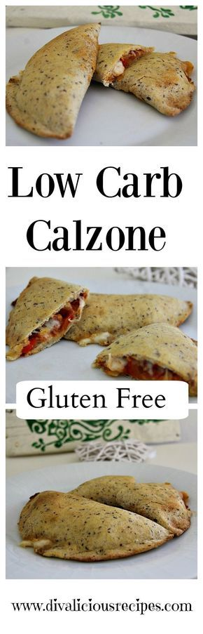 A low carb calzone dough recipe that is easy to make and a healthier option. Made with coconut flour and psyllium husk powder this is gluten free too. Recipe: http://divaliciousrecipes.com/2017/03/16/low-carb-calzone/