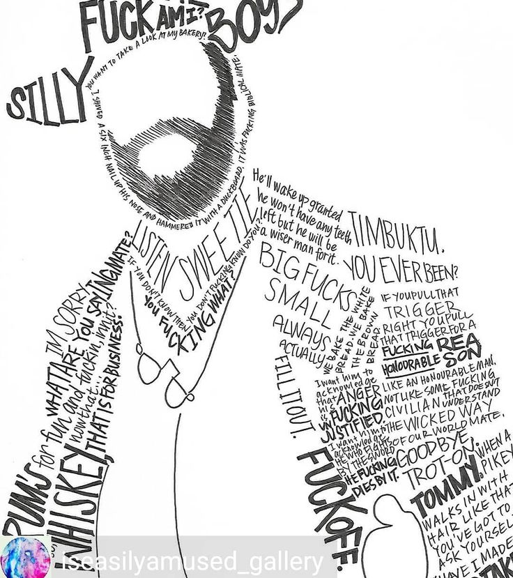 Alfie Solomons typography