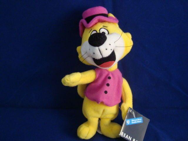 WARNER BROS STUDIO STORE-TOP CAT 8 INCH BEAN PLUSH-VEST-HANNA BARBERA-NEW-TAG #WARNERBROSSTUDIOSTORES