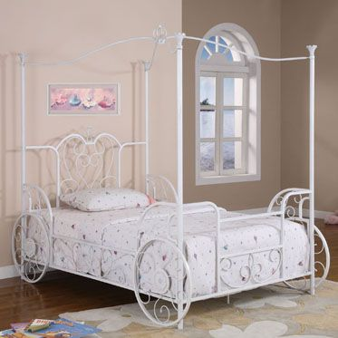 A Cinderella Bed For A Little Girl.