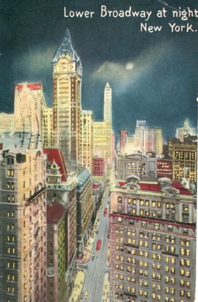 Lower Broadway at Night