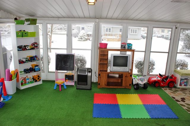 Our Playroom in the Sunroom