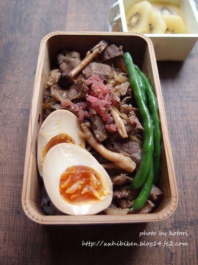 夏仕様の牛丼で男子学生弁当 by kotori*さん | レシピブログ - 料理 ...