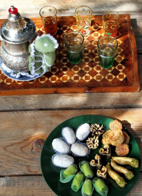Arabic Tea with Sweets