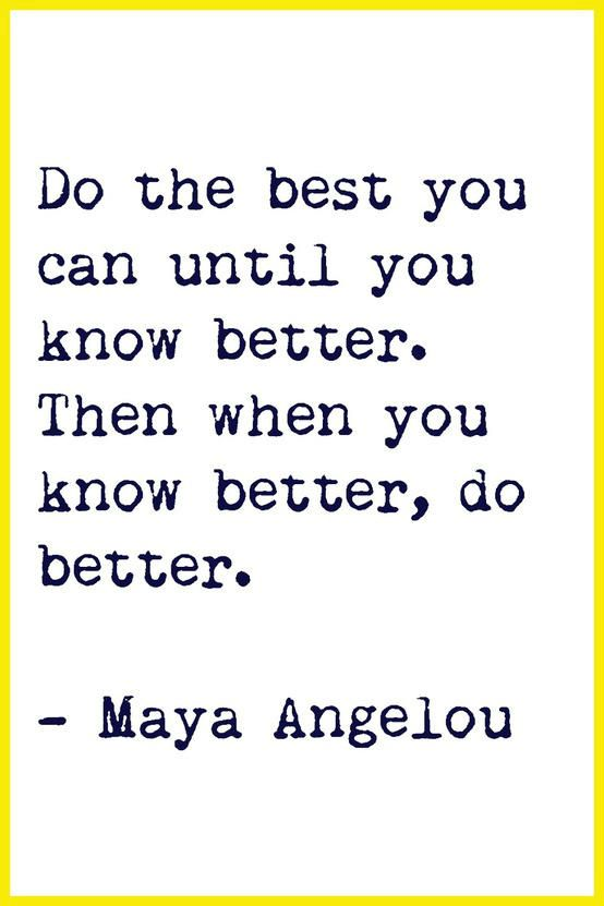 your best can always be better