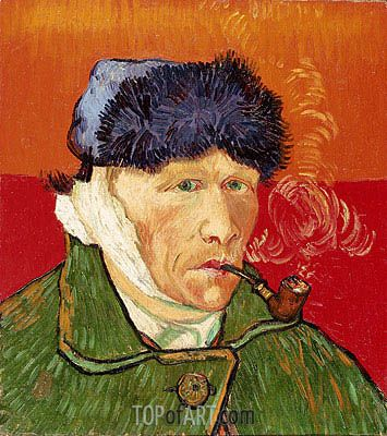 Vincent van Gogh   Self Portrait with Bandaged Ear and Pipe, 1889