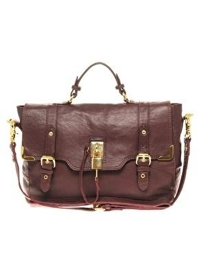 River Island Leather Lock Satchel Bag - StyleSays