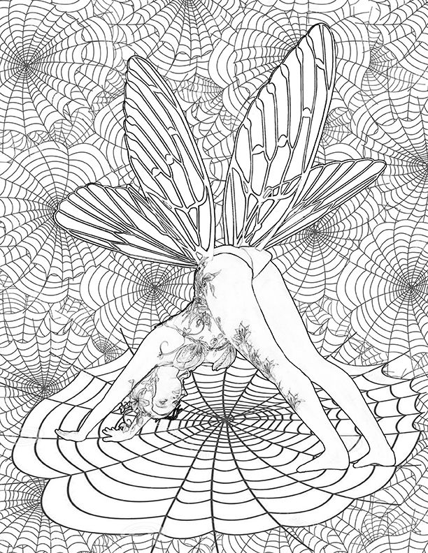 33 best Yoga Fairies Adult Coloring Book Designed By Adele ...