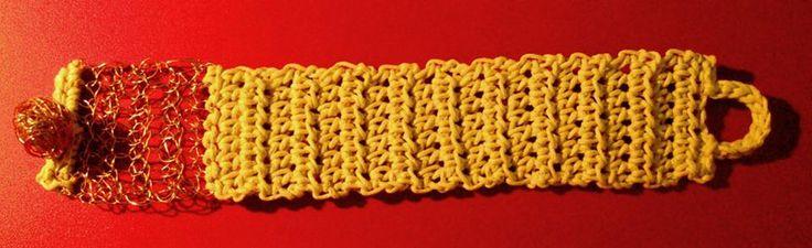 wire + cotton thread cuff
