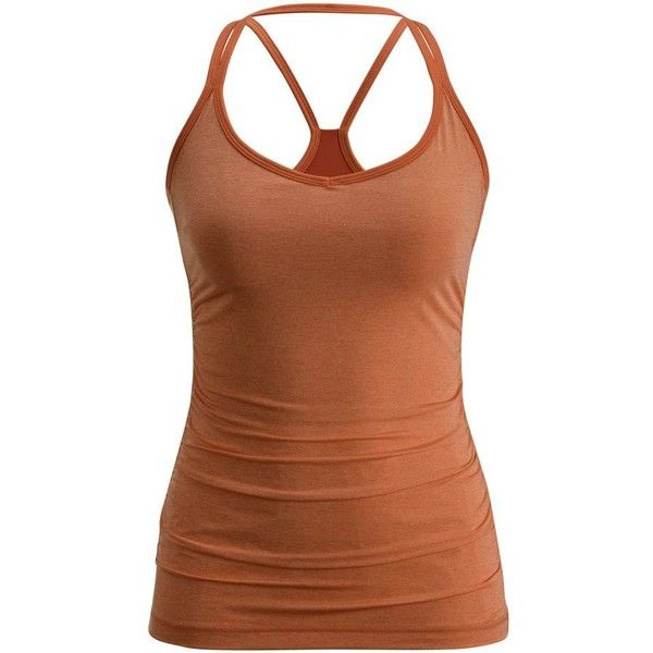 Black Diamond Six Shooter Tank Top Women's ❤ liked on Polyvore featuring tops, brown tank top, brown tank, brown tops and flat top