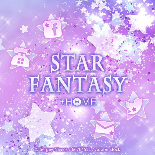 """""""Star Fantasy""""   Twinkle, twinkle, little star, how I wonder what you are... Bring that feeling to your smartphone today!  Download Now:http://bit.ly/2lzSavV  #cute #wallpaper #design #icon #beautiful #plushome #homescreen #widget #deco"""