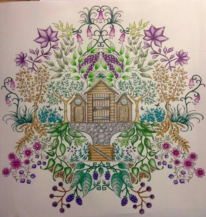 Johanna Basford Coloring Book Colouring Secret Gardens Colorful Drawings Books Garden Cottage Pages Sheets