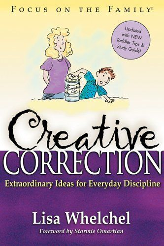 """Creative Correction by Lisa Whelchel: About an hour before bed, have a whole house """"clean sweep"""". Set the timer for 15 minutes. For each item left out after the timer goes off, the kids go to bed 5 minutes earlier. If they have forgotten to put away an item they can buy it back for $1  If a chore is not done well, have your child practice doing it over & over again. If siblings can't stop fighting, have them go the whole next day without the pleasure of each other's company-eating, playing…"""