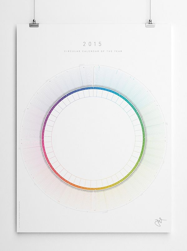 Circular Calendar of the Year 2015 on Behance