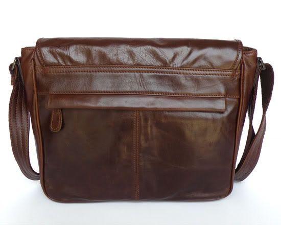 Handmade Vintage Leather Messenger Bag / Satchel / 11″ MacBook Air Bag in Dark Brown (n84)