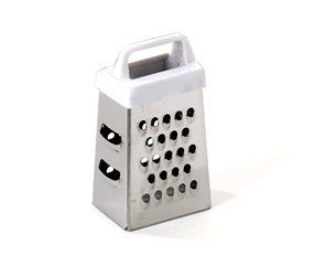 "2.3"" Miniature Garlic Grater by Cuisinox. $6.07. A miniature 4-sided grater for garlic... 2.3 inches. Dishwasher safe.. GRAMINI Features: -Mini grater.-White handle.-Handle material: Plastic.-Cleaning and care: Dishwasher safe. Dimensions: -Overall dimensions: 2.3'' Height."