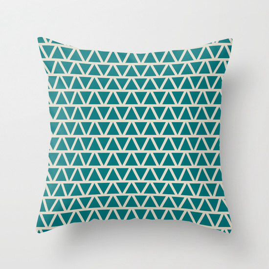 8 colours, Industrial Retro Triangles Pattern Decorative Pillow Cover, Geometric Triangles pattern, Indoor or Outdoor Cushion cover by ThingsThatSing on Etsy https://www.etsy.com/listing/242451099/8-colours-industrial-retro-triangles
