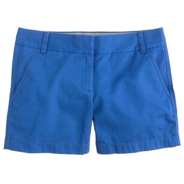 "J.Crew 4"" Chino Short ($29) ❤ liked on Polyvore featuring shorts, bottoms, pants, short chino shorts, long chino shorts, chino shorts, j crew shorts and long shorts"