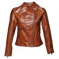 Obrázek Dámská kožená bunda se zipy 696197 Baťa