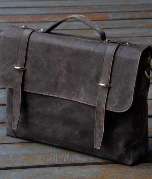 Handmade Leather 15-inch Laptop Bag Leather Briefcase | Genuine Leather Canvas Bag Wholesale business leather bag,  #fashion