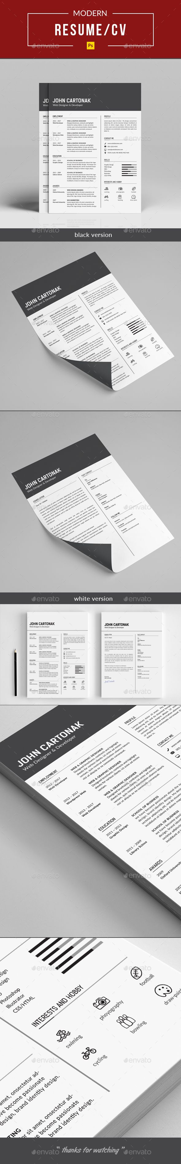 #Resume - #Resumes Stationery Download here:  https://graphicriver.net/item/resume/20330582?ref=alena994