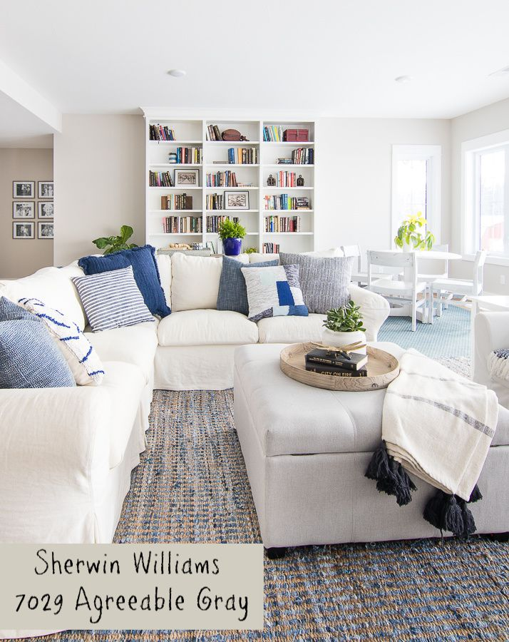 Lake House Blue And Gray Paint Colors Lake House Family Room