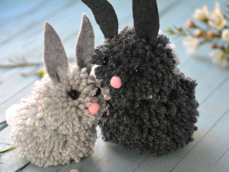 DIY/ Des lapins avec des pompons