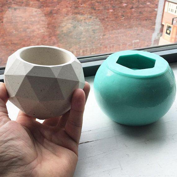 Geodesic Sphere SILICONE Mold - MEDIUM - Reusable Mold - Candle Mold, Concrete Mold